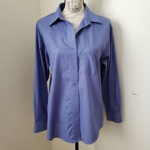 Foxcroft Button Down Blue/Violet Long Sleeves